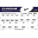 "Chrome Flat-Head Socket Cap Screws Assortment (5/16""-24 & 3/8""-24 Thread)"