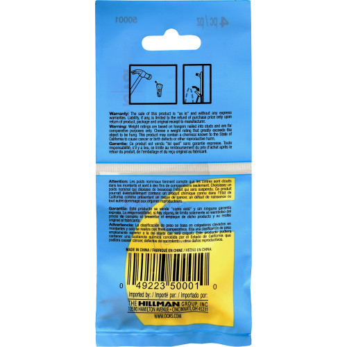 OOK Professional Brass Finished Picture Hangers 5lb Pack of 4