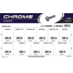 Chrome Carriage Bolts Assortment (Various Coarse Thread Sizes)