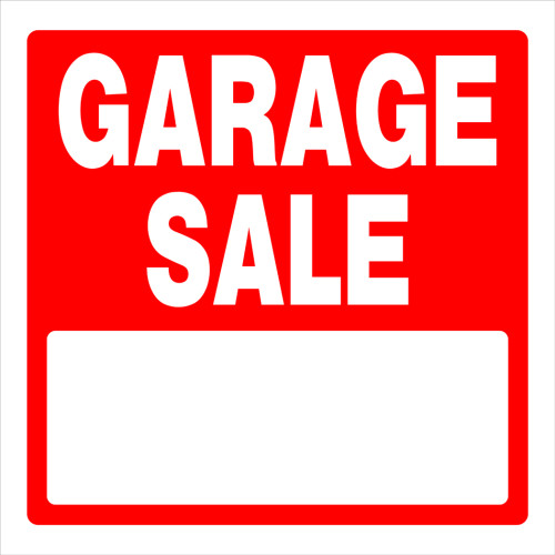 Garage Sale Sign, 17