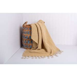 Amoda - Raw Cotton Woven Throw with Fringes