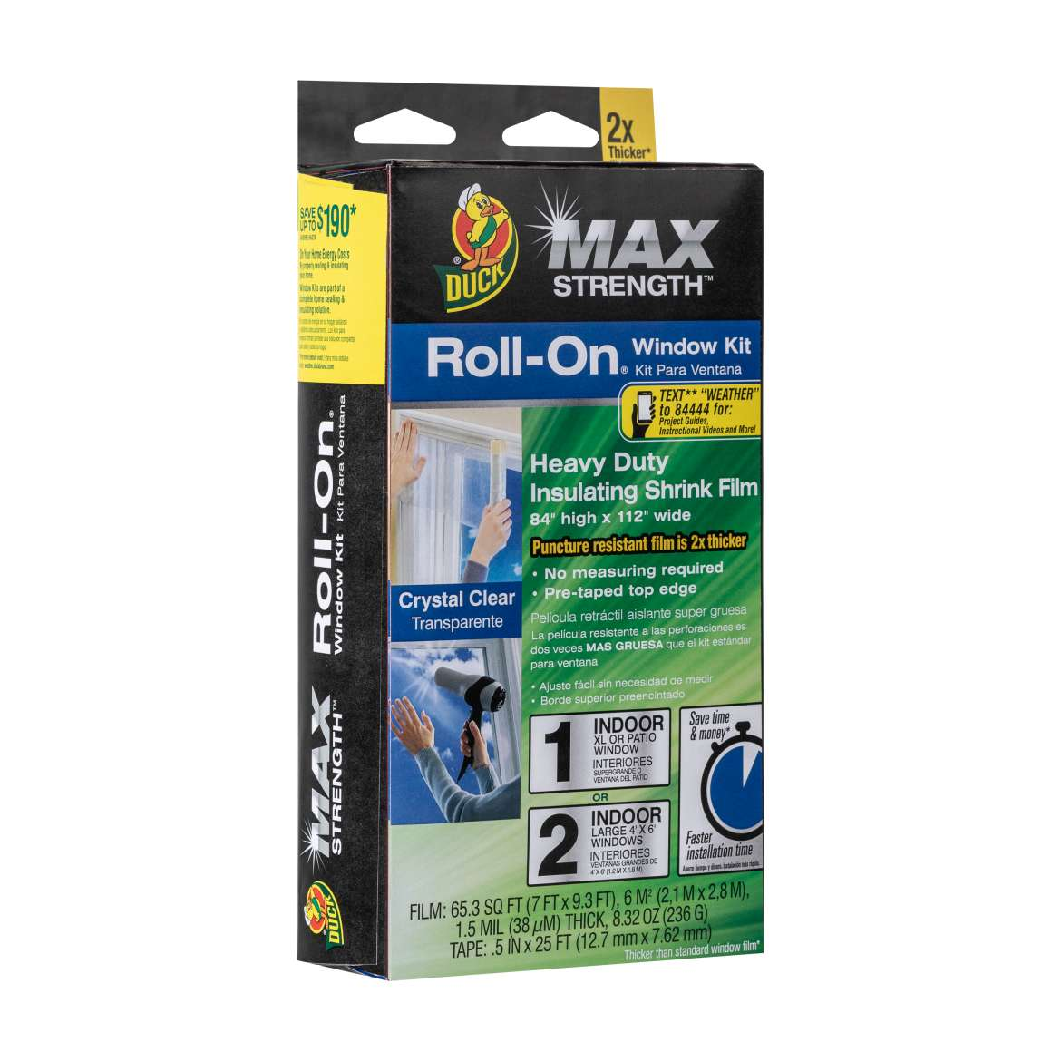 Duck Max Strength™ Roll-On® Window Insulation Kits