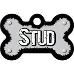 Stud Gray Small Bone Quick-Tag