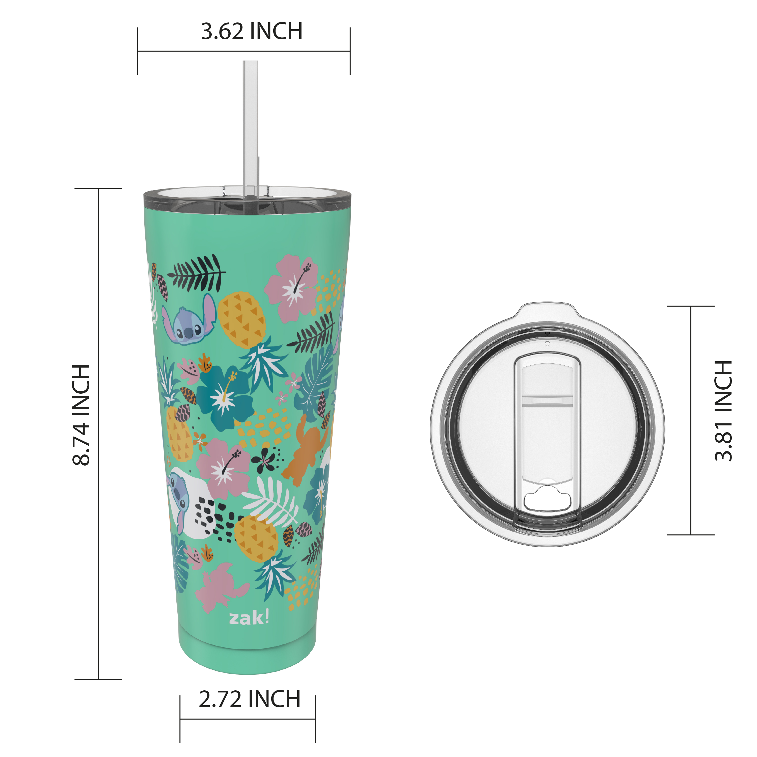 Disney 25 ounce Reusable Water Bottle, Lilo and Stitch slideshow image 3