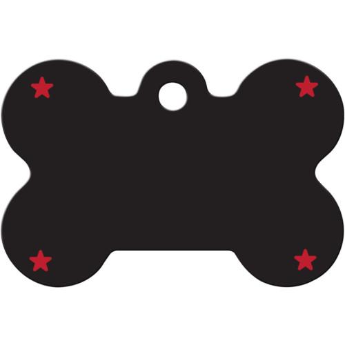 Good Dog Black Large Bone Quick-Tag 5 Pack