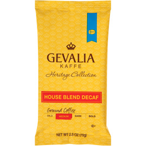 GEVALIA House Blend Decaf Coffee, 2.5 oz. Bag (Pack of 24) image