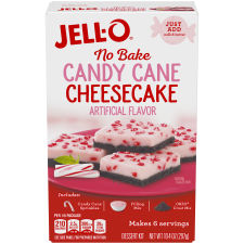 Jell-O No Bake Candy Cane Dessert Mix 10.4 oz Box