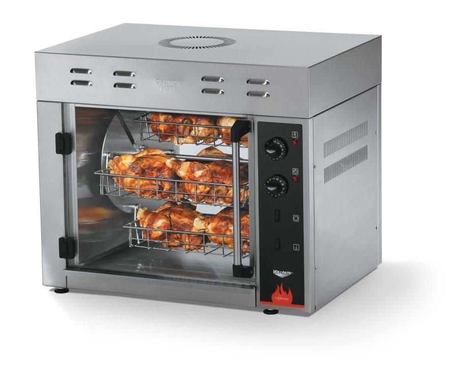 8-bird 220-volt Cayenne® countertop chicken rotisserie oven