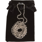 """Quick-Tag Silver-Plated Beaded Chain (30"""") with Pouch"""