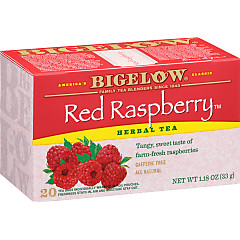 Red Raspberry Herbal Tea - Case of 6 boxes - total of 120 teabags