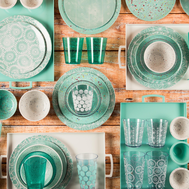 Confetti Salad Plate, Mint, 6-piece set slideshow image 3