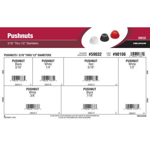 Push Nuts Assortment (3/16