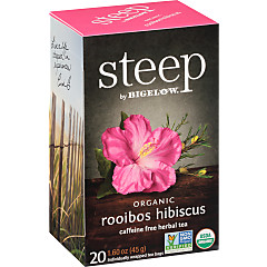rooibos hibiscus herbal tea - case of 6 boxes- total of 120 teabags