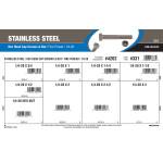 "Stainless Steel Hex Cap Screws & Nut Assortment (1/4""-28 Thread)"