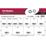 "SAE & USS Flat Washers Assortment (#6 thru 1"")"