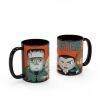 Little Monsters 15 ounce Coffee Mug and Spoon, Frankenstein and Friends