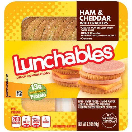 Lunchables Convenience Meals - Ham and Cheddar, 3.2 oz.