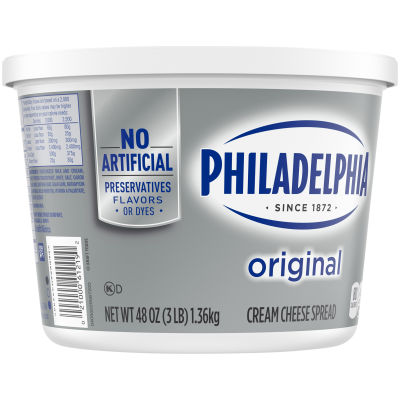 Philadelphia Plain Cream Cheese Spread 48 oz Tub