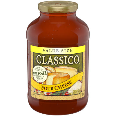 Classico Four Cheese Pasta Sauce 44 oz Jar