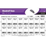 """Woodruff Keys Assortment (1/16"""" thru 5/16"""")"""