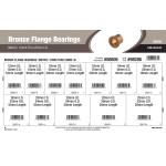 Metric Bronze Flange Bearings (12mm thru 25mm Inner Dia.)
