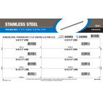 "Stainless Steel Threaded Rod Assortment (#6-32 to #10-32 Thread Sizes in 3"" & 6"" Lengths)"