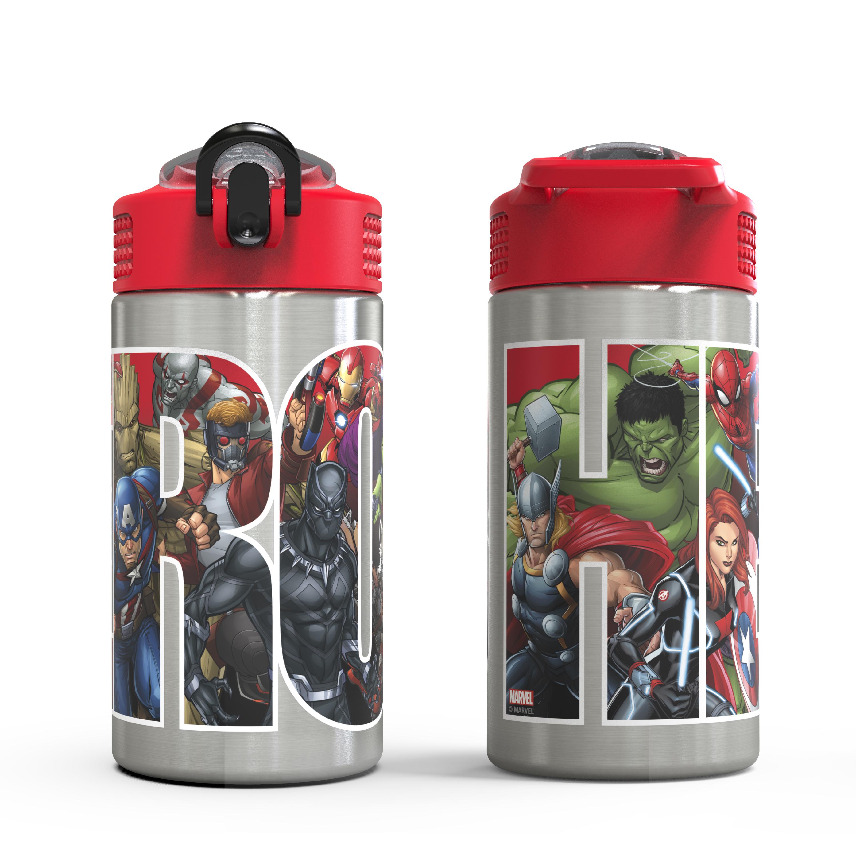 Marvel Comics 15.5 ounce Water Bottle, Black Panther, Captain America, Spider-Man & The Hulk slideshow image 3