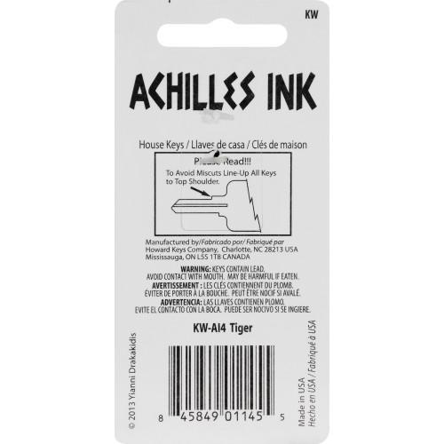 Achilles Ink Tiger Key Blank Kwikset 66/97 KW1/10