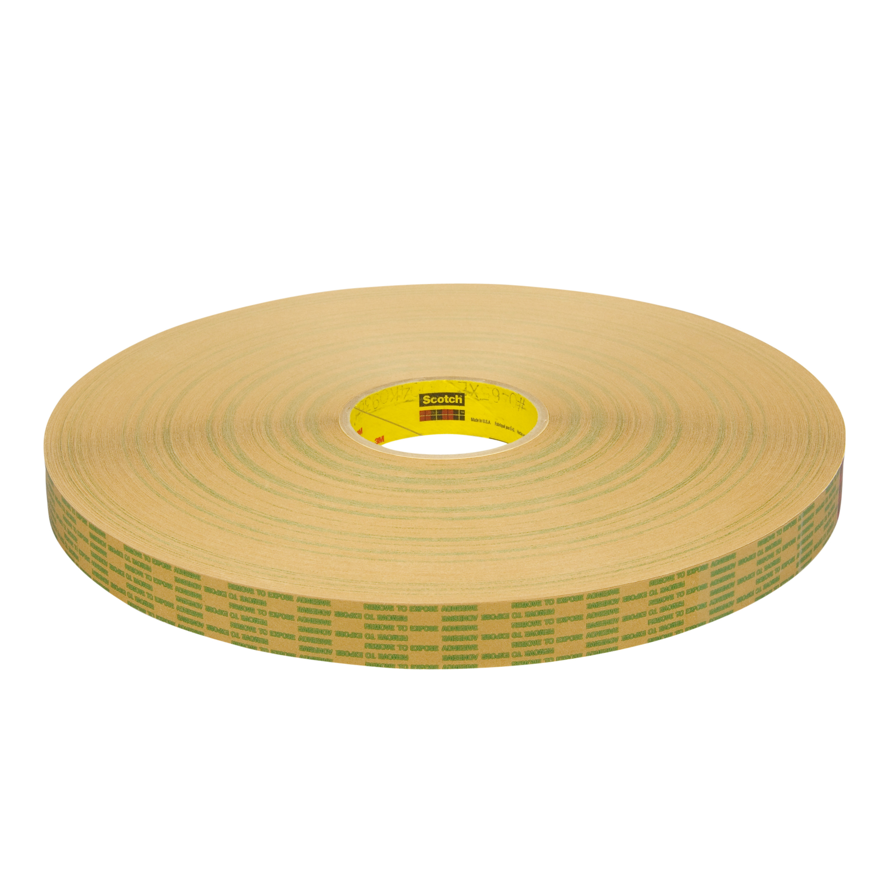 3M™ Adhesive Transfer Tape Extended Liner 465XL, Translucent, 1 in x 600 yd, 2 mil, 9 per case