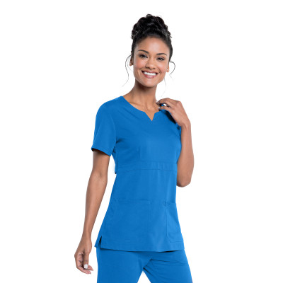 Urbane Ultimate Notch Neck Scrub Top for Women: 2 Pocket, Contemporary Slim Fit, Luxe Soft Stretch Fabric Medical Scrubs 9062-