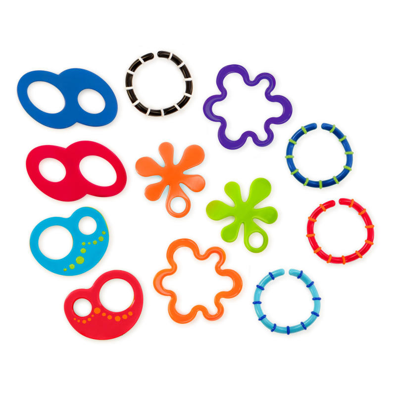 12 Linky Loops™ Teething Toy