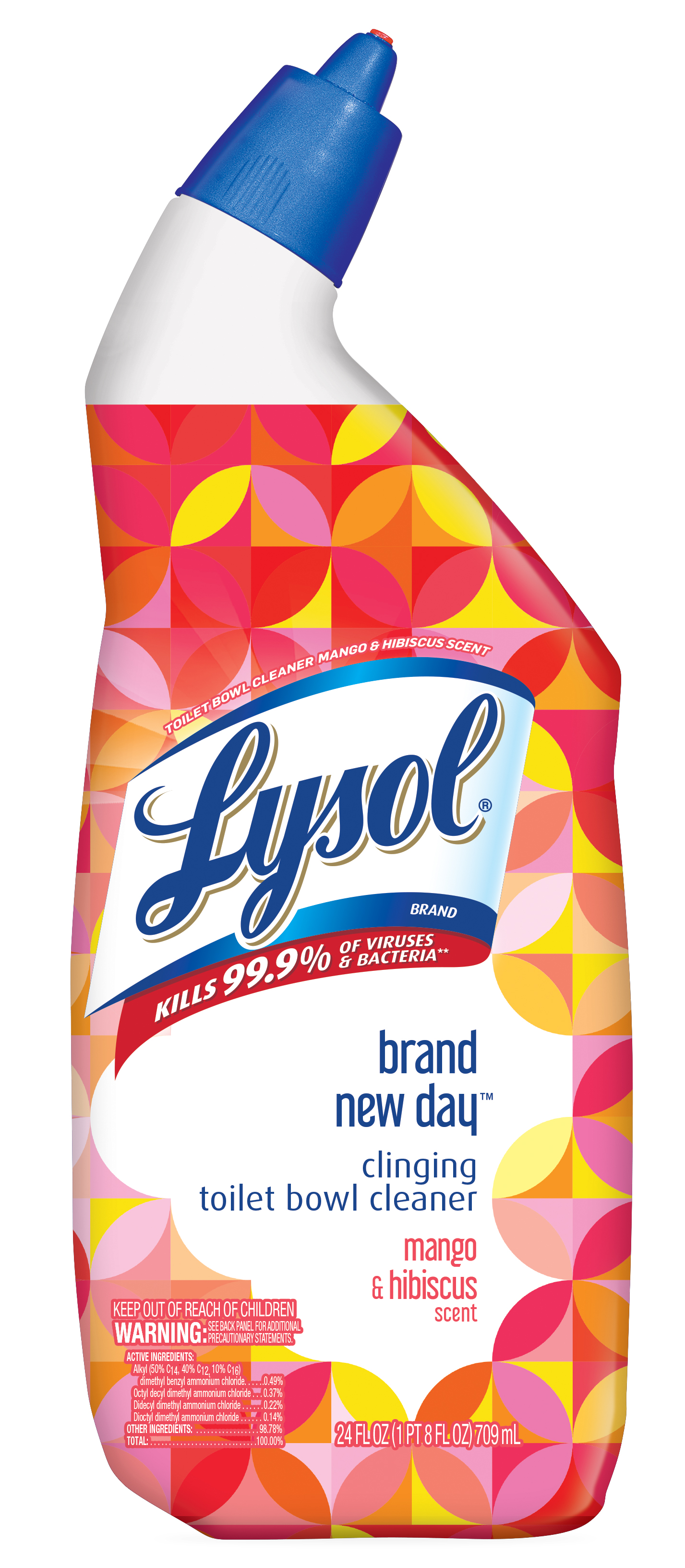 Lysol Toilet Bowl Cleaner, Mango & Hibiscus, 24oz