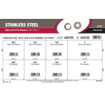 "Stainless Steel Split Lock & Flat Washers Assortment (5/8"" thru 1"")"