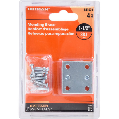 Hardware Essentials Mending Brace Zinc 1-1/2