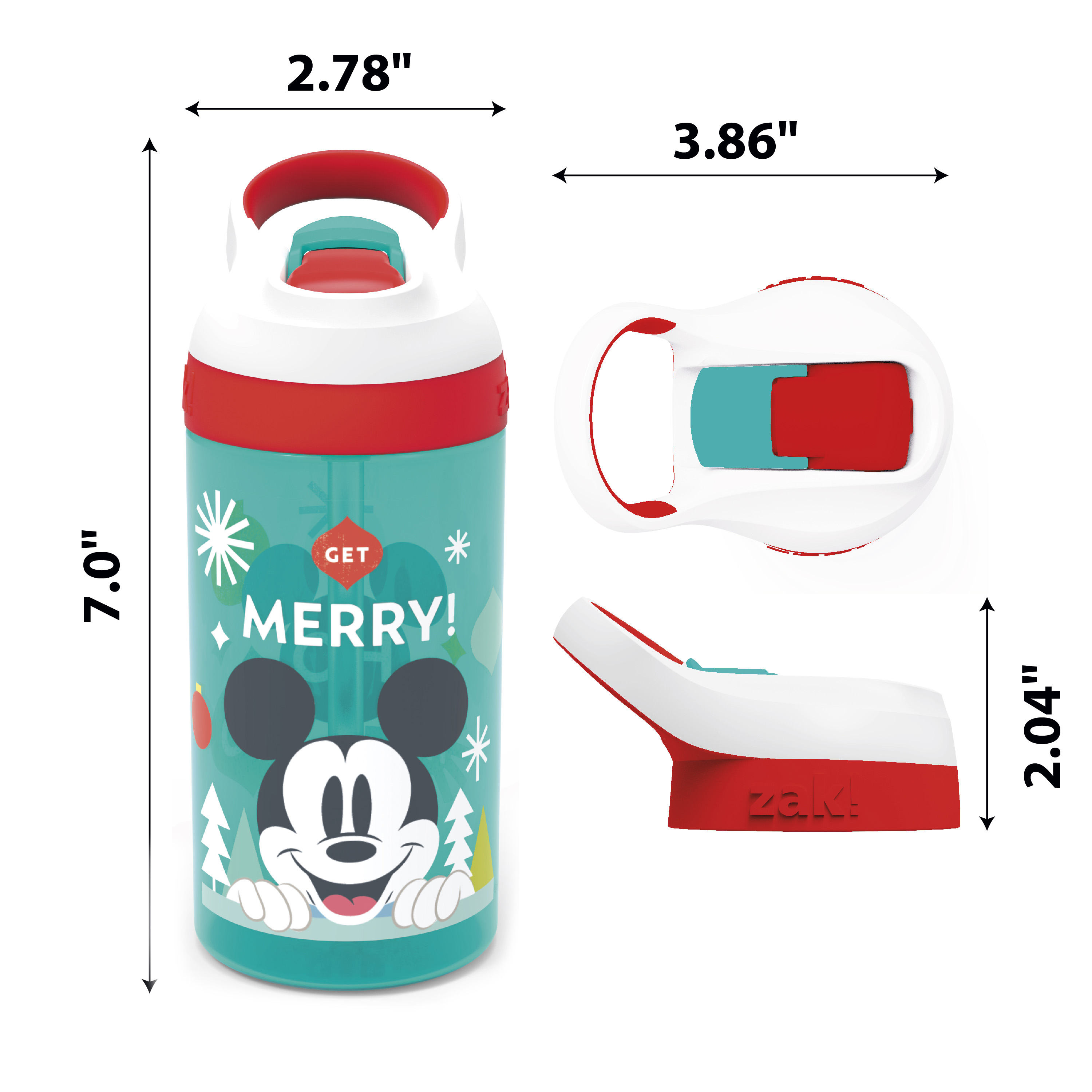 Disney 16 ounce Water Bottle, Mickey Mouse slideshow image 5