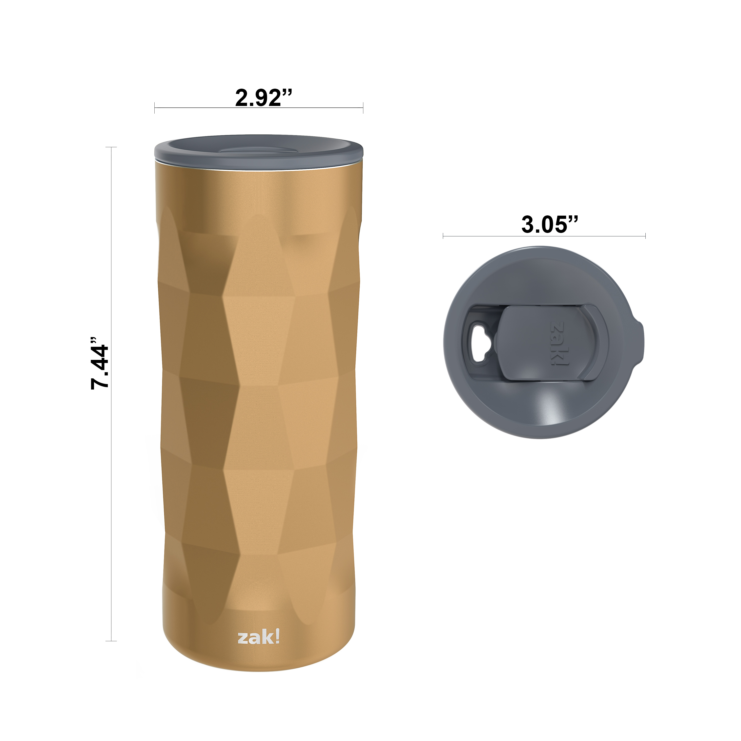 Fractal 16 ounce Vacuum Insulated Stainless Steel Tumbler, Copper slideshow image 7