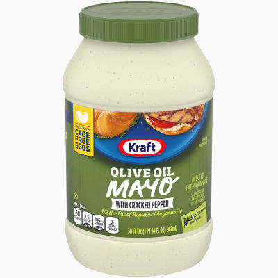 Kraft Mayo with Olive Oil and Cracked Pepper, 30 fl oz Jar