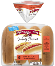Pepperidge Farm® Sweet & Soft Hot Dog Buns Top Sliced