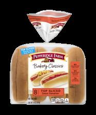 Pepperidge Farm® Sweet & Soft Hot Dog Buns Top Sliced