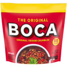 Boca Meatless Ground Crumbles Vegan 12 oz Pouch