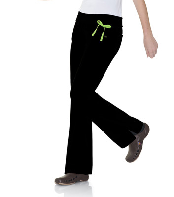 Urbane Essentials Stretch Scrub Pant for Women: 2 Pocket, Modern Tailored Fit, Yoga Waist, Flare Leg Medical Scrubs 9301-