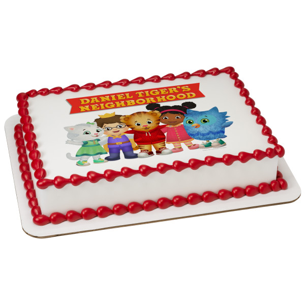 Daniel Tiger's Neighborhood® Neighborhood Friends PhotoCake® Edible Image®