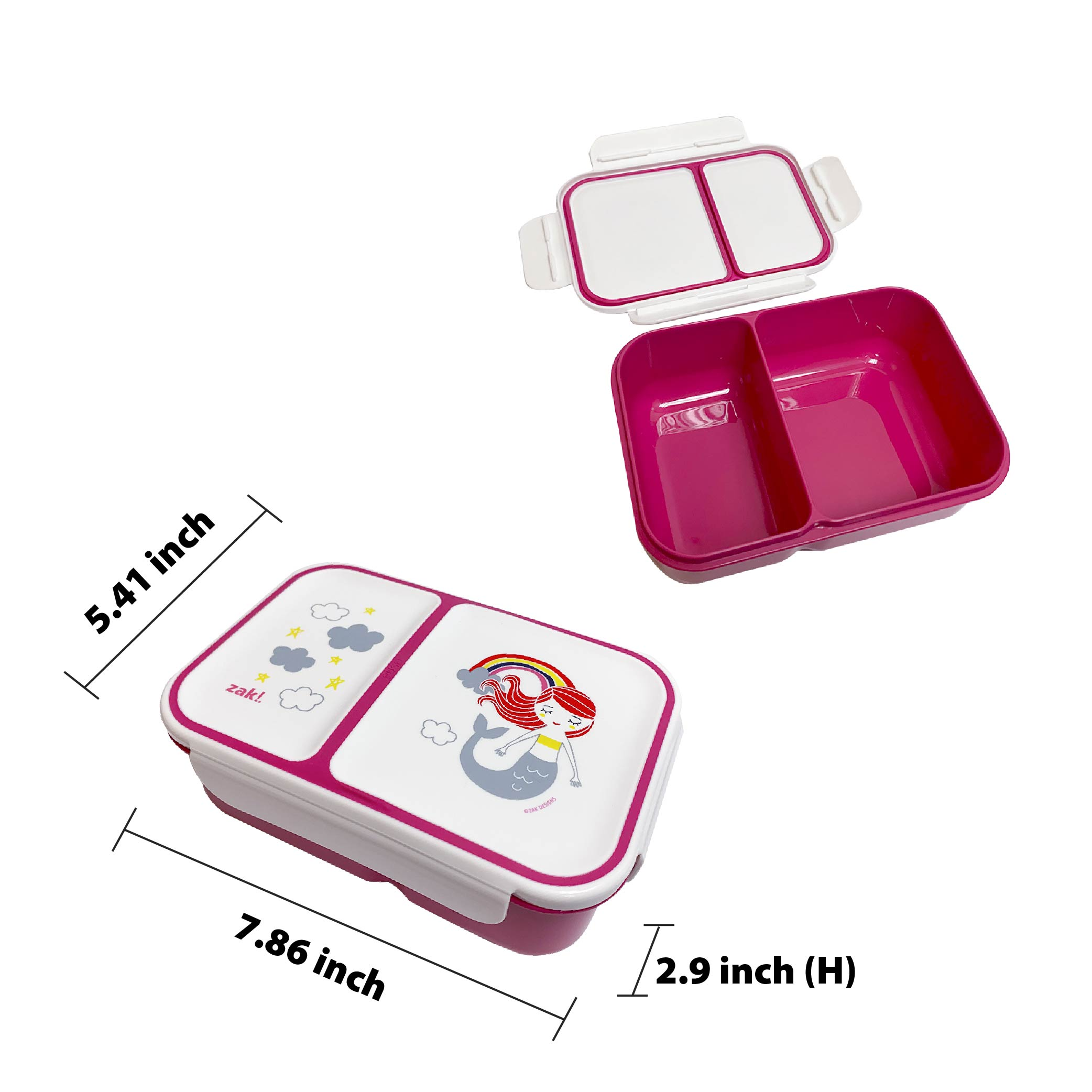 Happy Things Dual-compartment Reusable Bento Box, Mermaids slideshow image 5