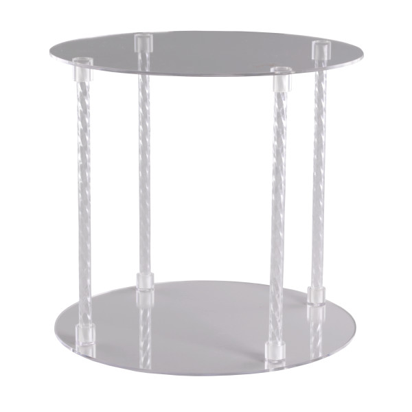 Round with Spiral Posts Cake Stand