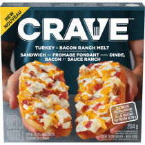 CRAVE Turkey & Bacon Ranch Frozen Melt , 204g