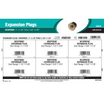 "Neoprene Expansion Plugs Assortment (1""-1-1/8"" thru 1-3/4""-1-7/8"")"
