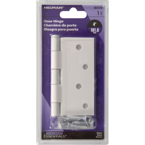 Hardware Essentials Residential Door Hinges with Removable Pin White 4