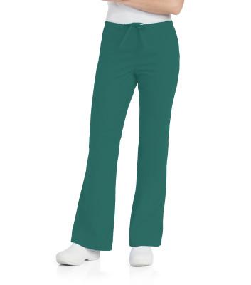 Landau Essentials Flare Leg Scrub Pants for Women: Classic Relaxed Fit, Drawstring/ Elastic Waist 8335-
