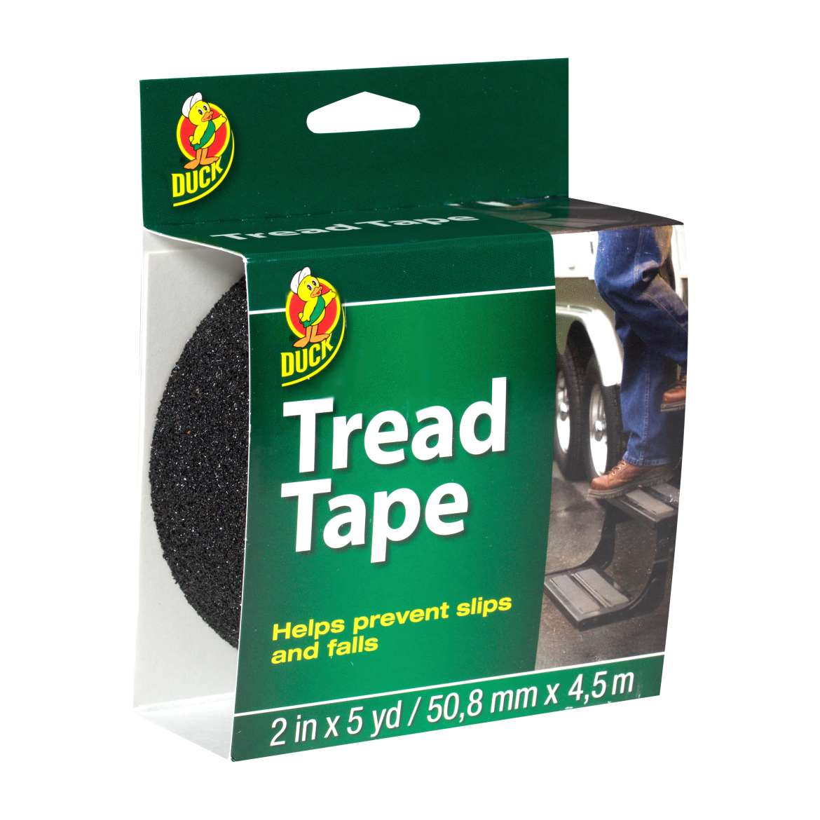 Duck® Brand Tread Tape - Black, 2 in. x 5 yd. Image