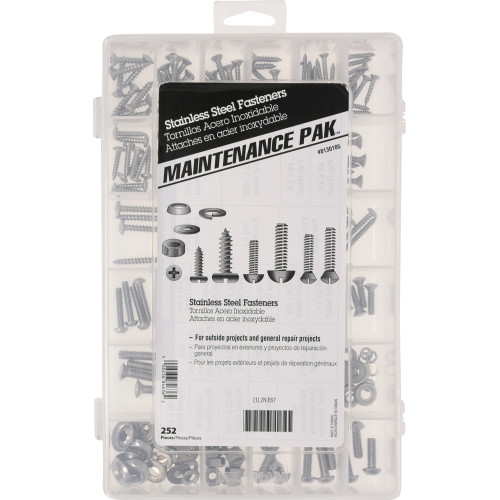 Stainless Steel Fasteners Assortment Kit (252-Piece)